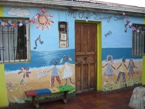 The front door of Mi Club Domingo Savio